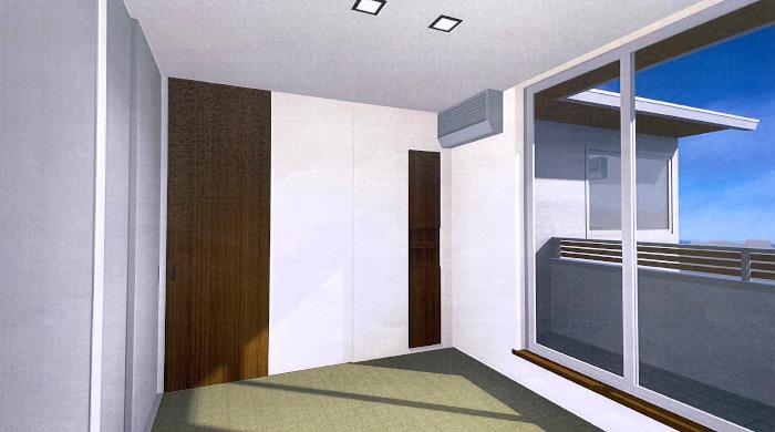 パース,設計,和室